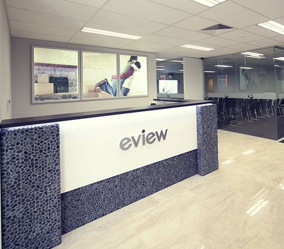 Office lobby signs for eview