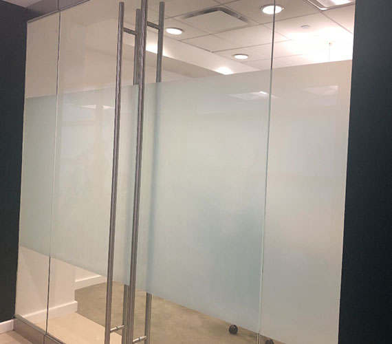Window graphics for office privacy