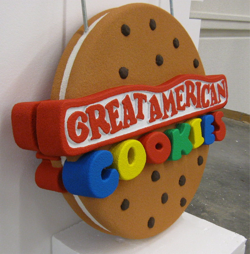 Creative and attractive signage for Great American Cookies in Huntsville, AL