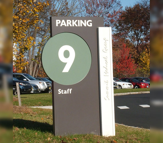 Easy to understand parking signs for business