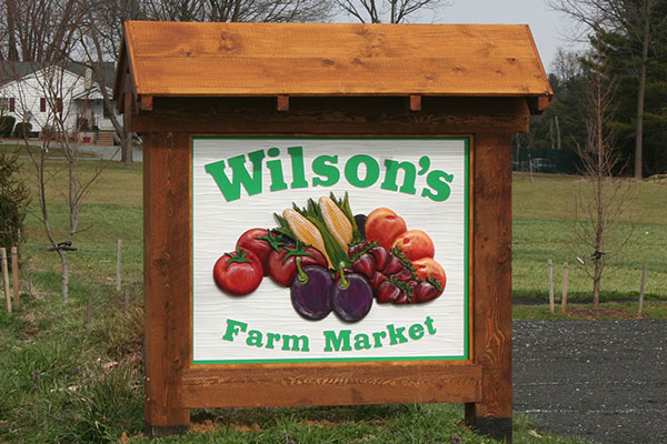 Attractive post & Panel Signs for Wilson