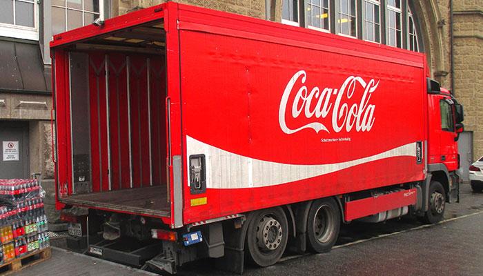 Fleet graphics for Coca Cola truck
