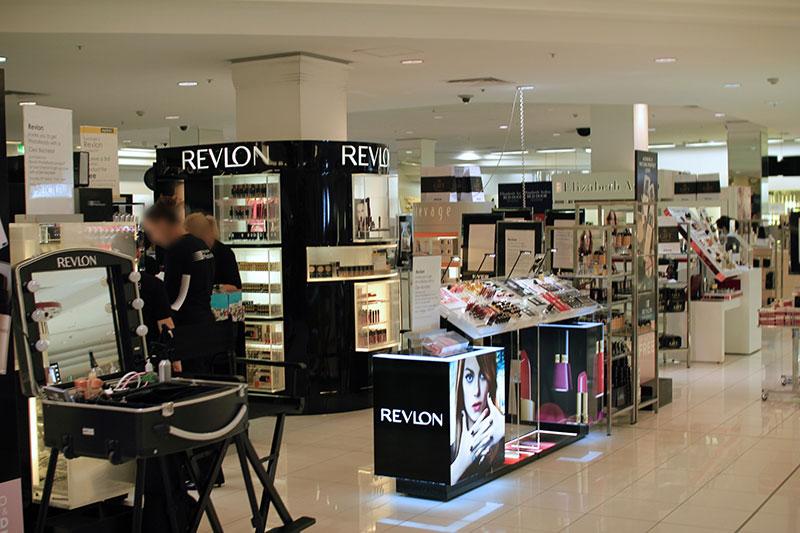 Interior signs and graphics for Revlon in Huntsville, AL