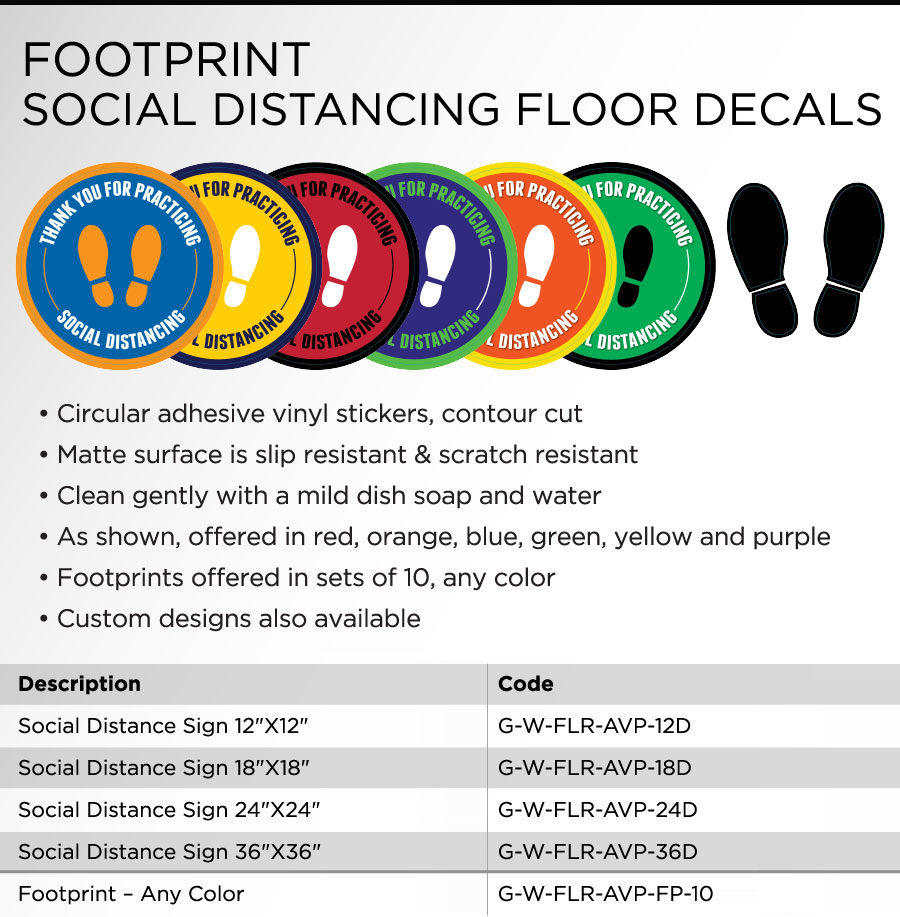 Floor Sign Brochure In Concord - Sign Source Solution