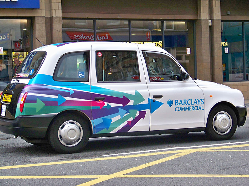 Vehicle wraps and graphics for Barclays Commercial