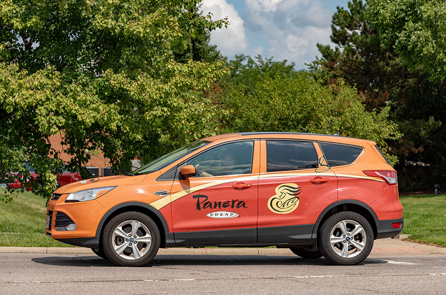 Commercial vehicle wraps for Panera Bread