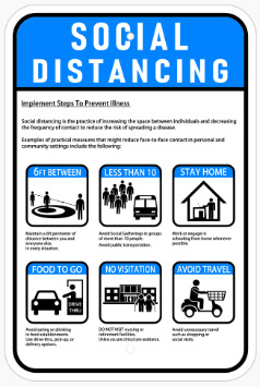 Social Distancing Sign In Concord - Sign Source Solution