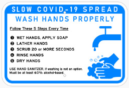 Wash Hands Properly Sign In Concord - Sign Source Solution