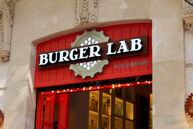 Burger Lab Storefront Sign In Concord - Sign Source Solution